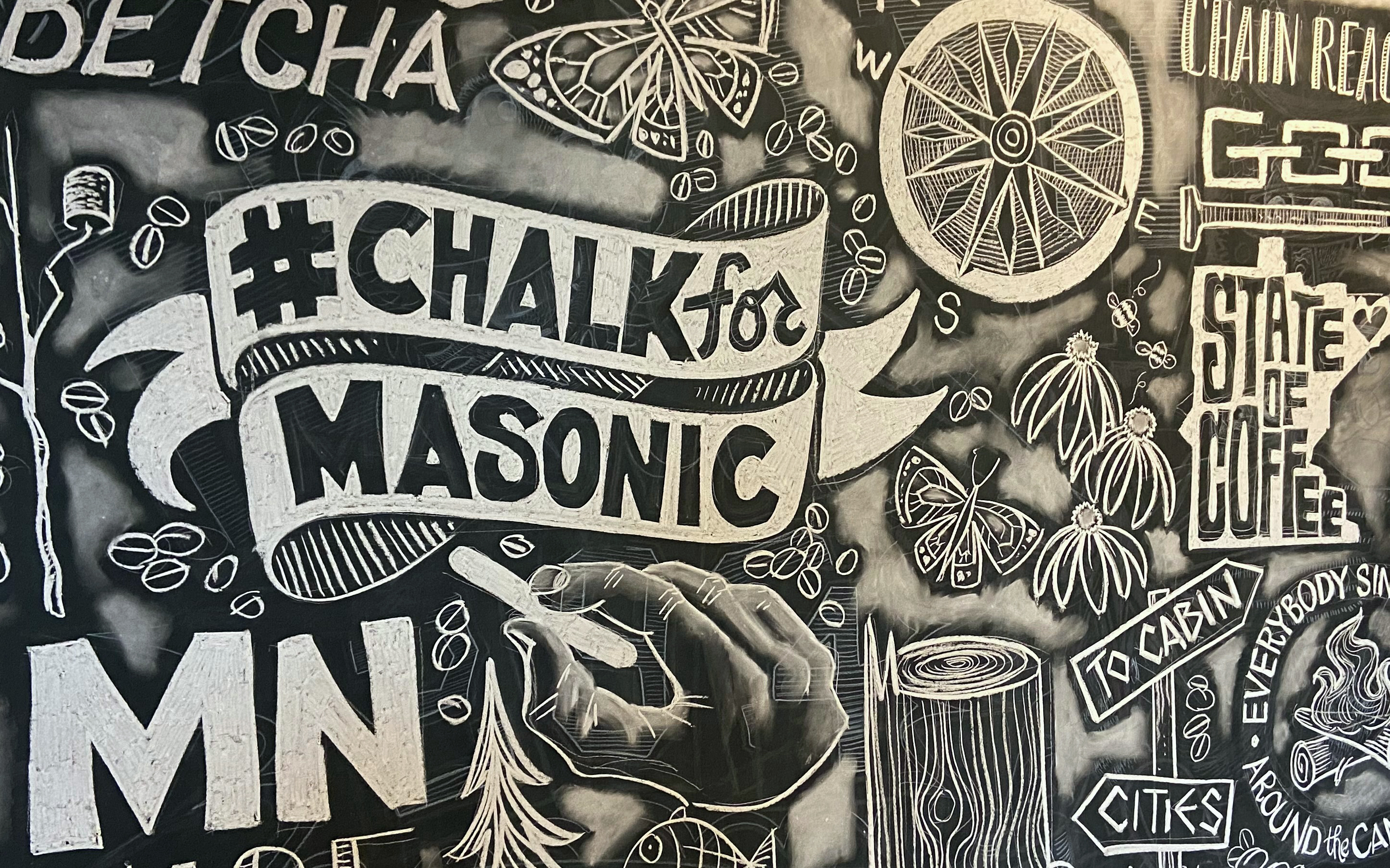 Create Art Fight Cancer Chalk For Masonic Event
